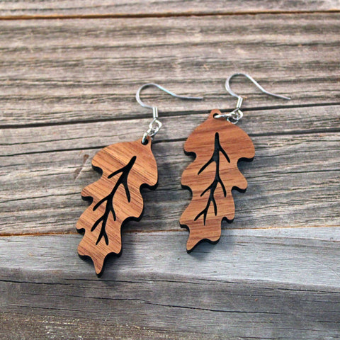 Wooden Dangle Earrings/Lightweight Wooden Earrings/Boho Earrings/Leaf Earrings/Earrings from Wood/Hypoallergenic/Lightweight