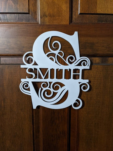 Monogram Sign/Front Door Plaque/Entryway Door Wooden Monogram Sign/Wood Initial Wall Hanging/Monogram Sign