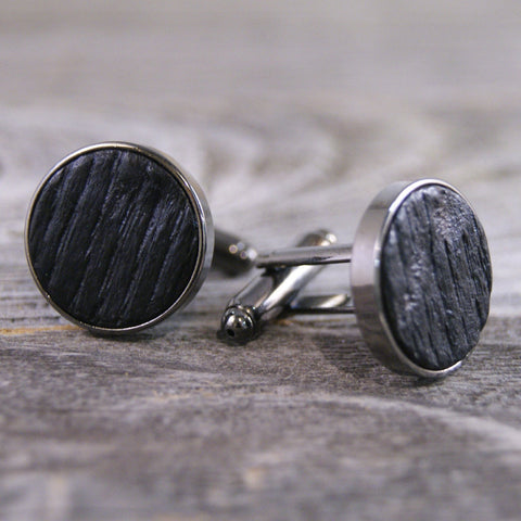 Bourbon Barrel Manly and Rustic Cufflinks