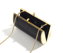 Load image into Gallery viewer, Glomesh Single Barrel Clutch- Black