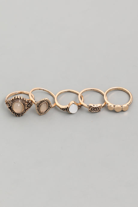 Gold Antique Gold Ring Set