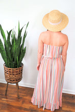 Load image into Gallery viewer, multi stripe maxi dress