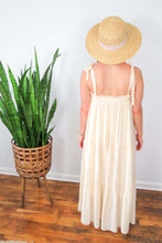 Load image into Gallery viewer, Ivory spaghetti strap maxi dress