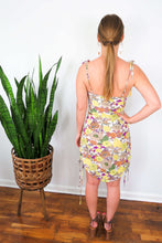Load image into Gallery viewer, Floral spaghetti strap body con dress