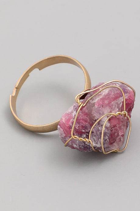 Chunky gemstone ring