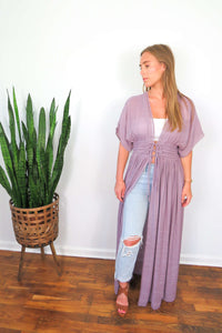 plum lace cover up