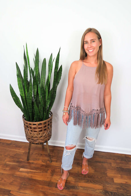 fringed tank top