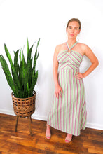 Load image into Gallery viewer, striped halter maxi dress