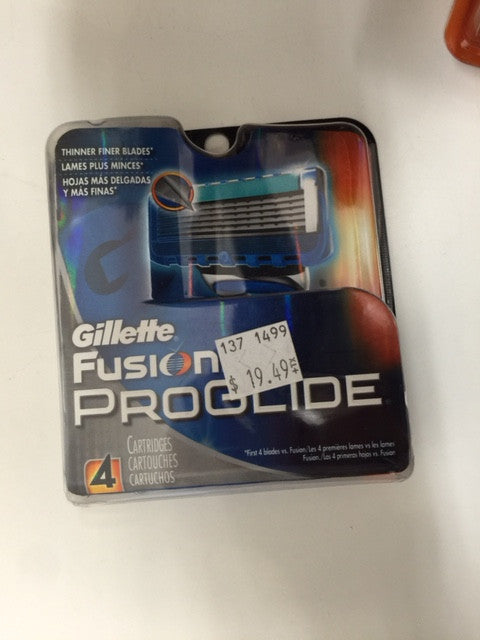 Gillette Fusion Proglide 4 Cartridges