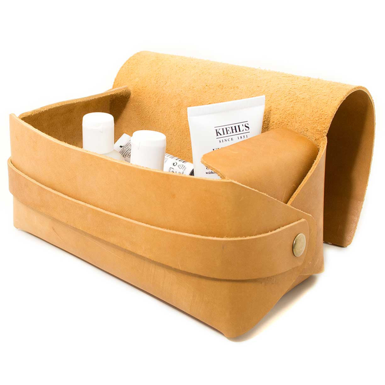 Reservoir Leather Dopp Kit, Amber