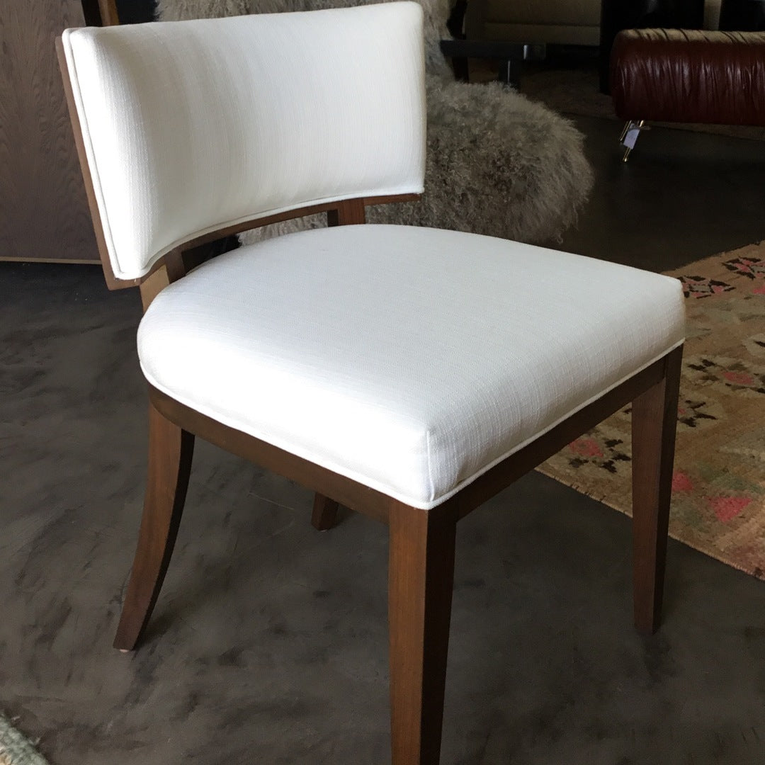 Low Back Dining Chair w/ wooden back detail