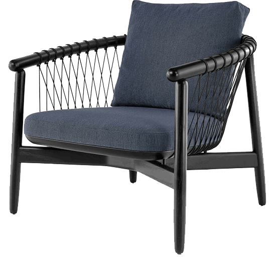 Canopy Chair | Solid wood frame with cushioned seat and back