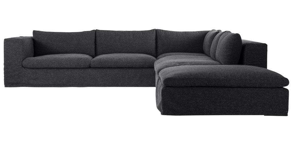 Custom Maxine Sectional with Ottoman