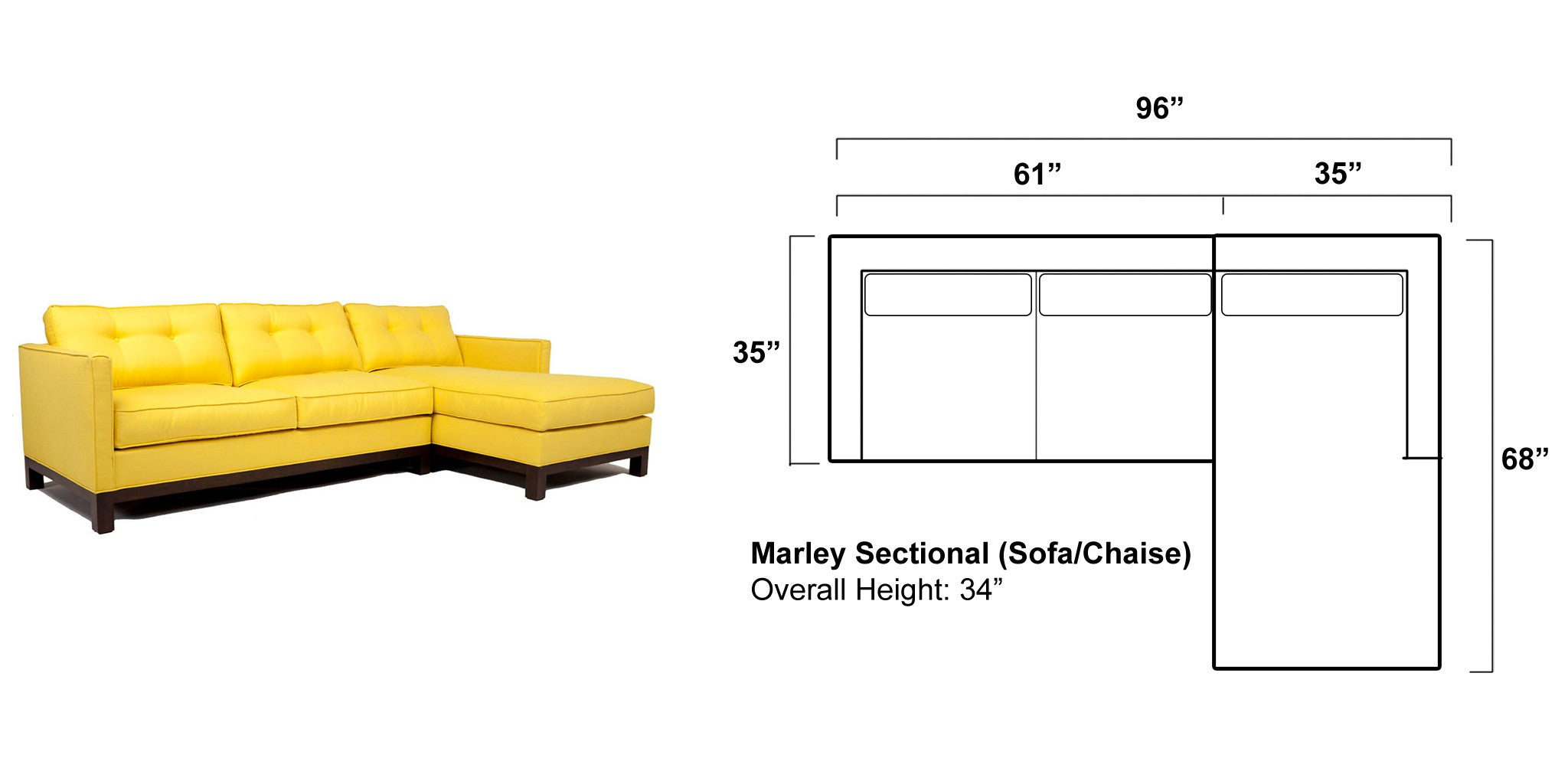 Remaining Balance for Custom Marley Sectional