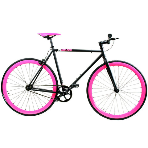 Golden Fixed Gear Single Speed Bike Black/Pink