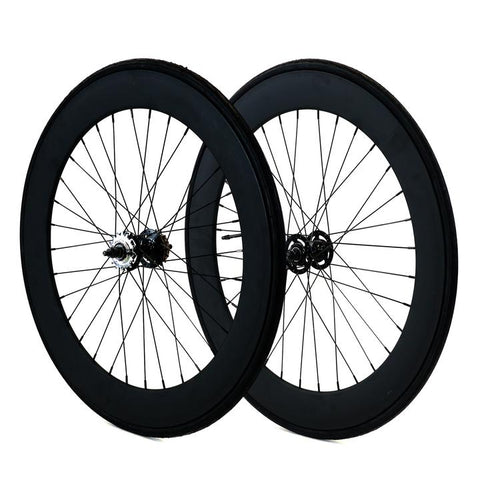 70mm Fixed Gear Wheels Black