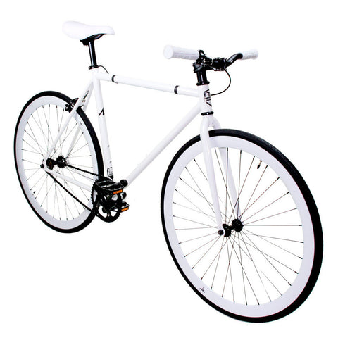 Zycle Fix Fixed Gear Bike White Out