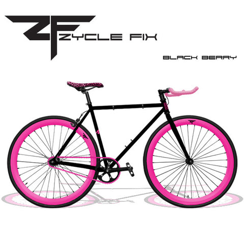 Zycle Fix Fixed Gear Bike-Black Berry