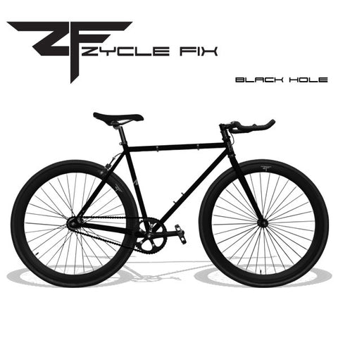 Zycle Fix Fixed Gear Bike-Black Hole