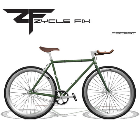 Zycle Fix Fixed Gear Bike-Forest Green