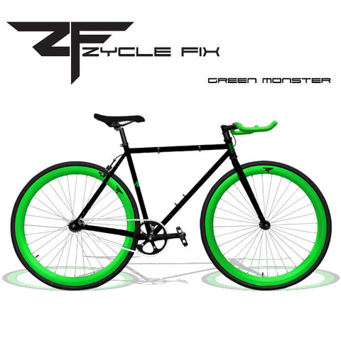Zycle Fix Fixed Gear Bike-Green Monster