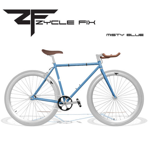 Zycle Fix Fixed Gear Bike-Misty Blue