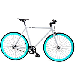 Golden Fixed Gear Single Speed Bike Grey/Celes