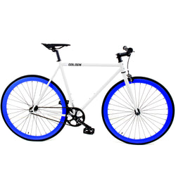 Golden Fixed Gear Single Speed Bike White/Blue