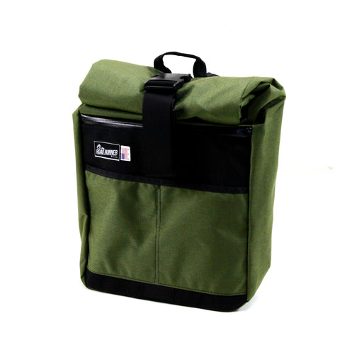 Roll Top Road Runner Bag Olive