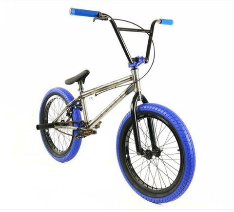Elite Destro Bmx Bike - Raw Blue