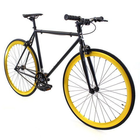 Golden Fixed Gear Single Speed Bike Saint