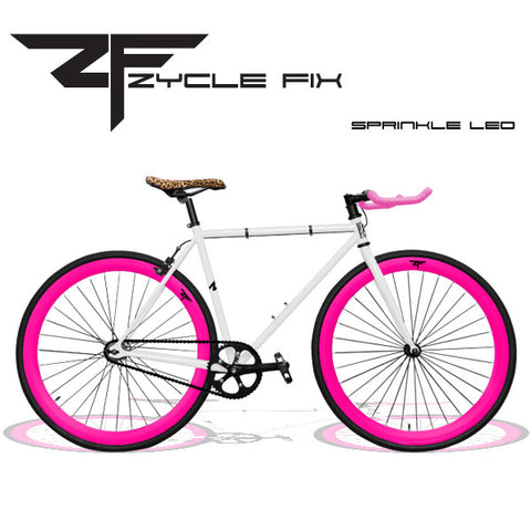 Zycle Fix Fixed Gear Bike-Sprinkle Leo