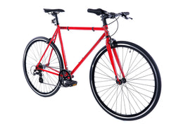 Golden Velo 7 Urban Commuter Bike Red