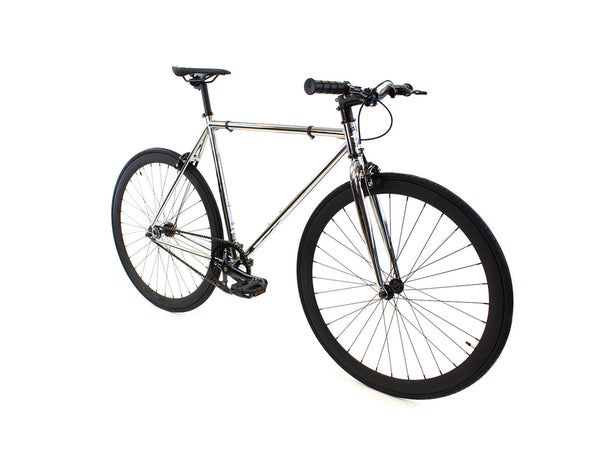 Golden Fixed Gear Single Speed Bike Chrome