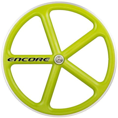 Encore Front Lime Green Track Wheel