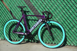 Unknown Singularity Track Bike Build Purple by Fixie Stop