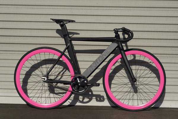 Throne Track Lord Complete Bike Pink Wheels