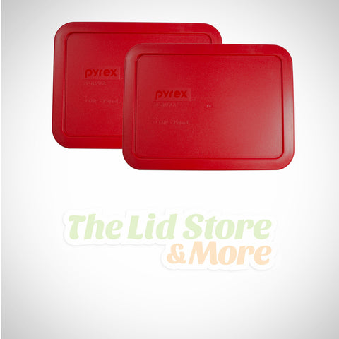 Pyrex - Dark Red 3 Cup Container Lid (2 Pack)