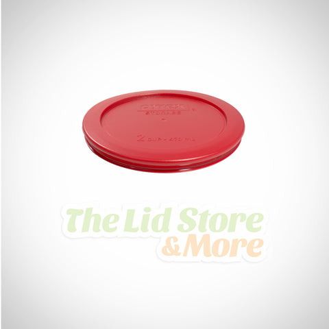 Pyrex - Dark Red 2 Cup Bowl Lid