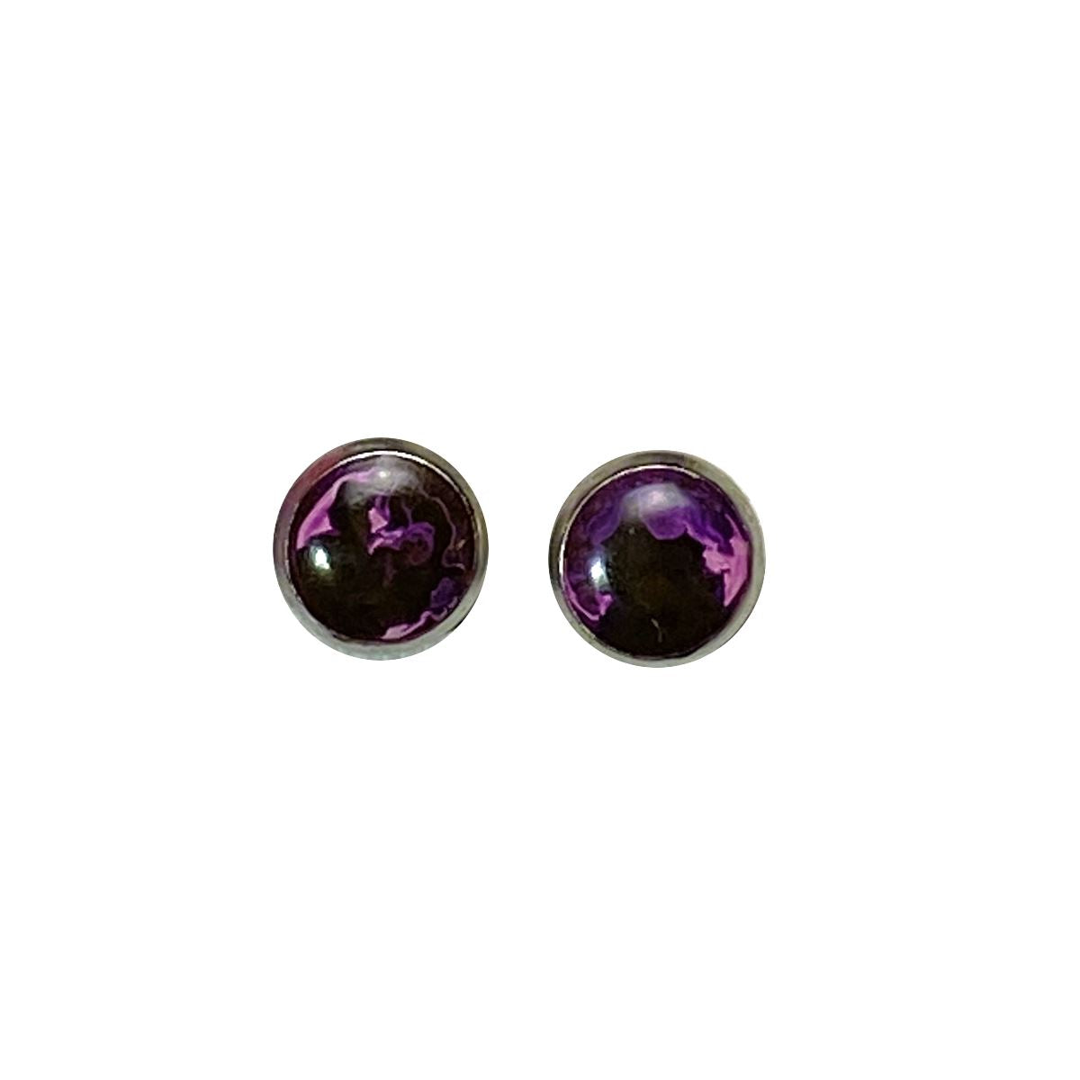 Color Study - purple 8mm stud earrings Deanna Dot Store