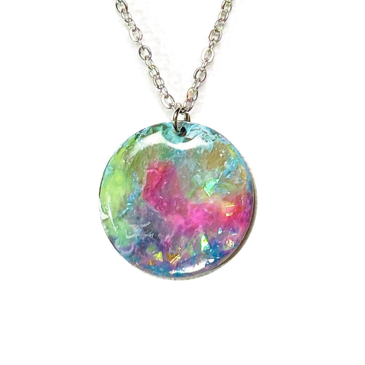 Unicorn Dreams - large rainbow holographic necklace necklace Deanna Dot Store