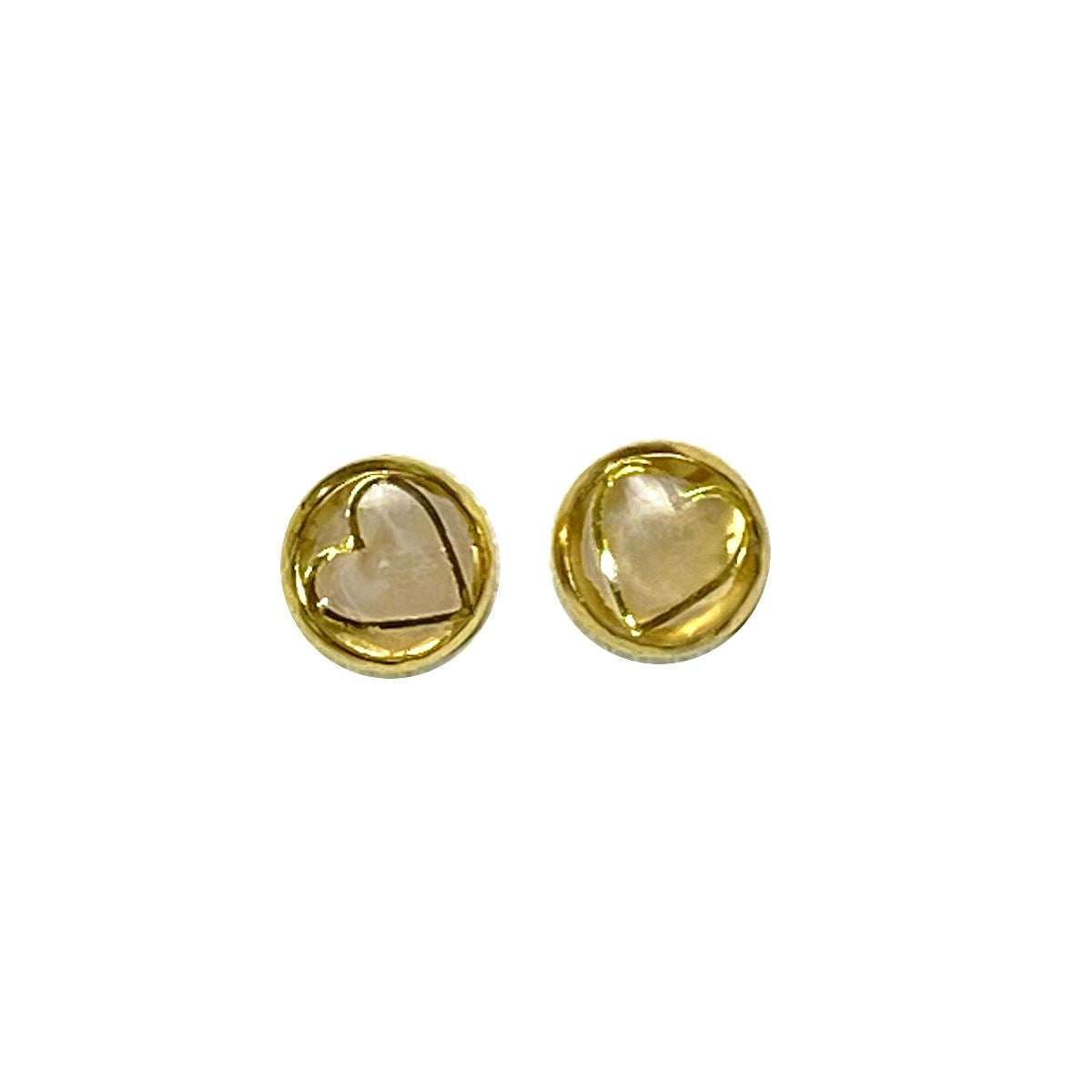 Unicorn Dreams - gold heart on gold 8mm stud earrings Deanna Dot Store