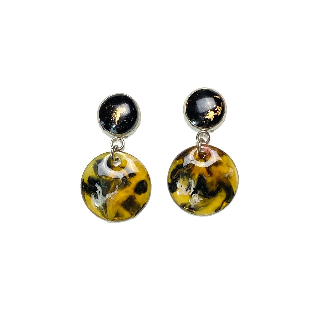 Color Study - medium tortoise drop stud earrings earrings Deanna Dot Store