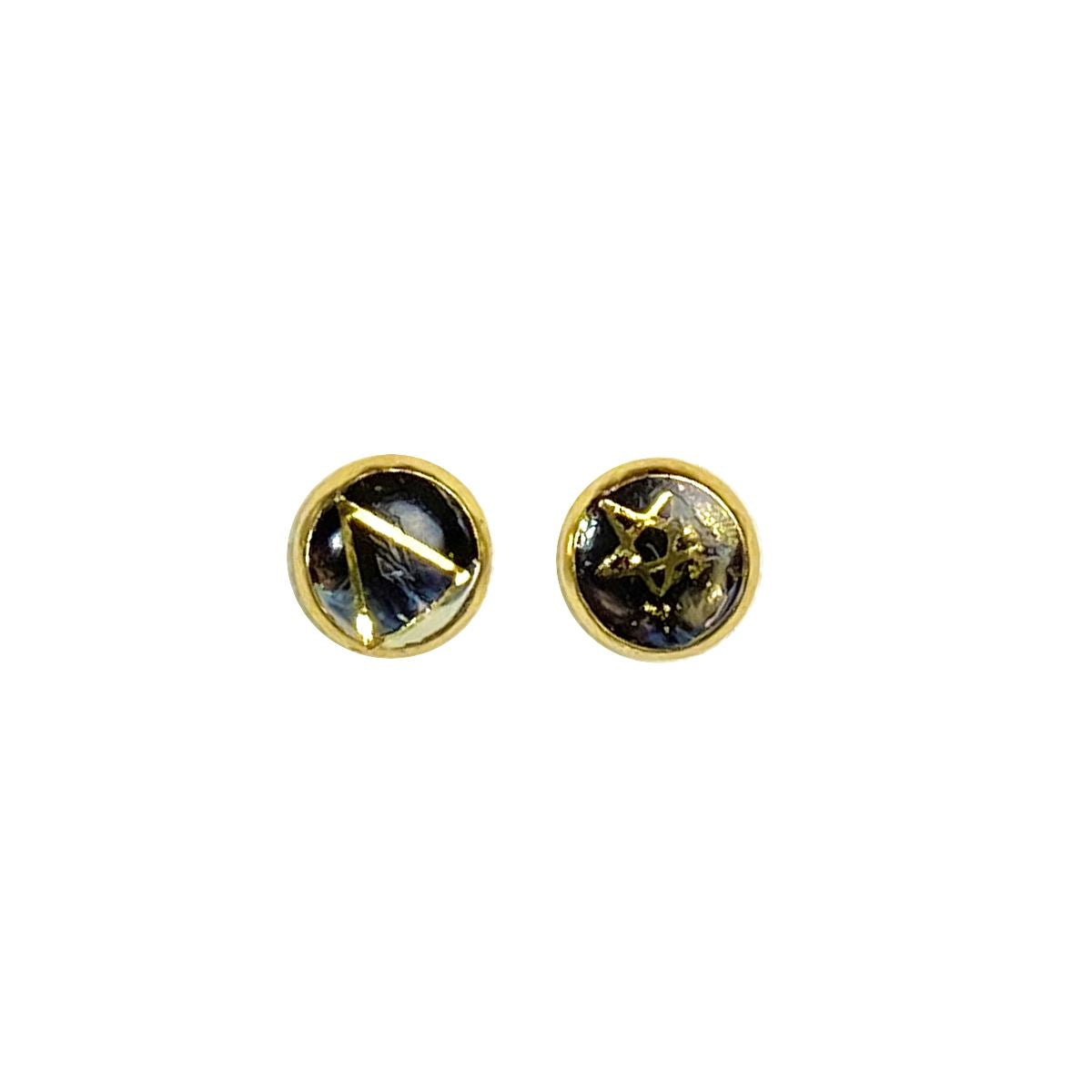 Celestial - triangle star gold 8mm stud earrings Deanna Dot Store