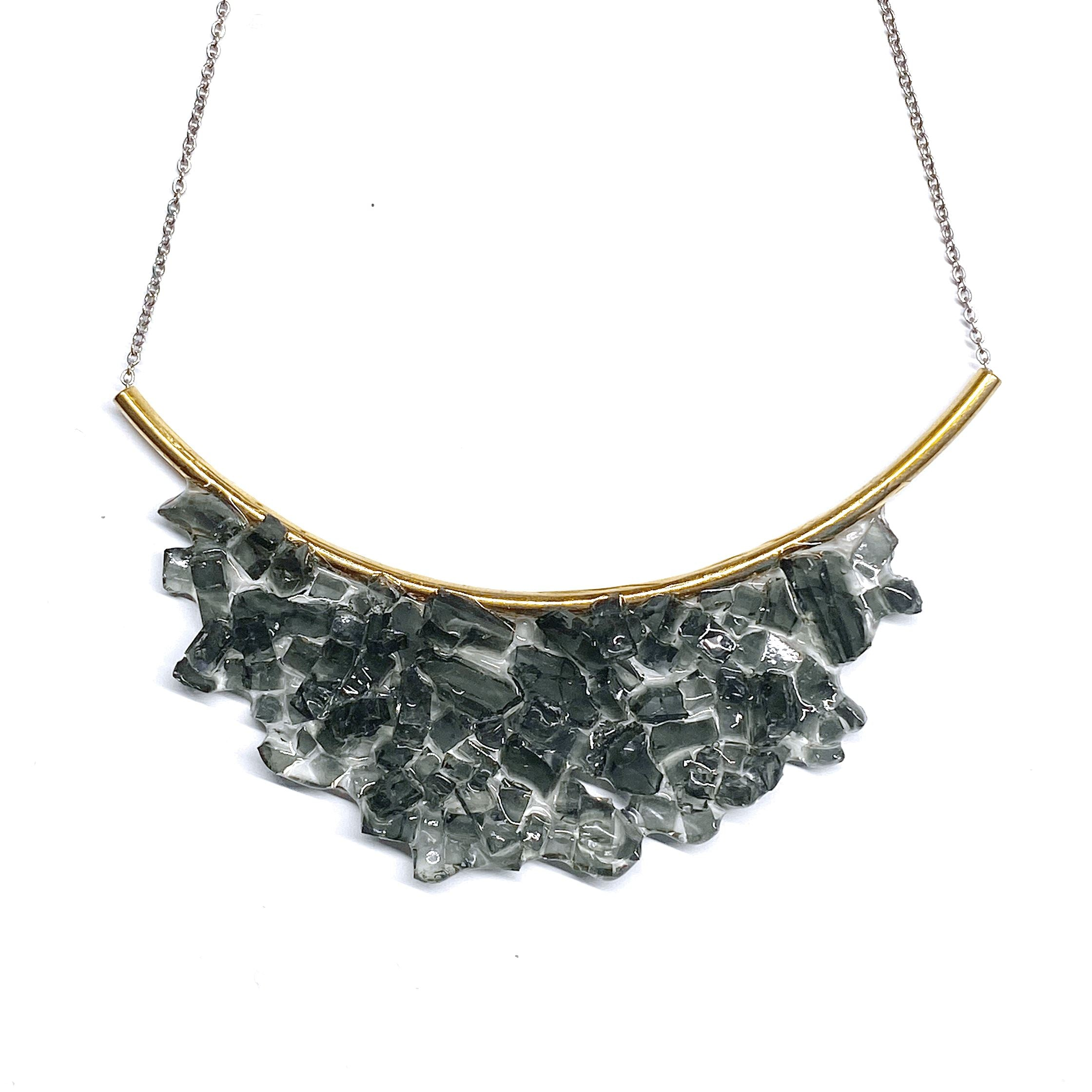 Cluster Bib - Black necklace Cleveland Street Glass