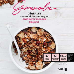 Granola cacao et canneberges