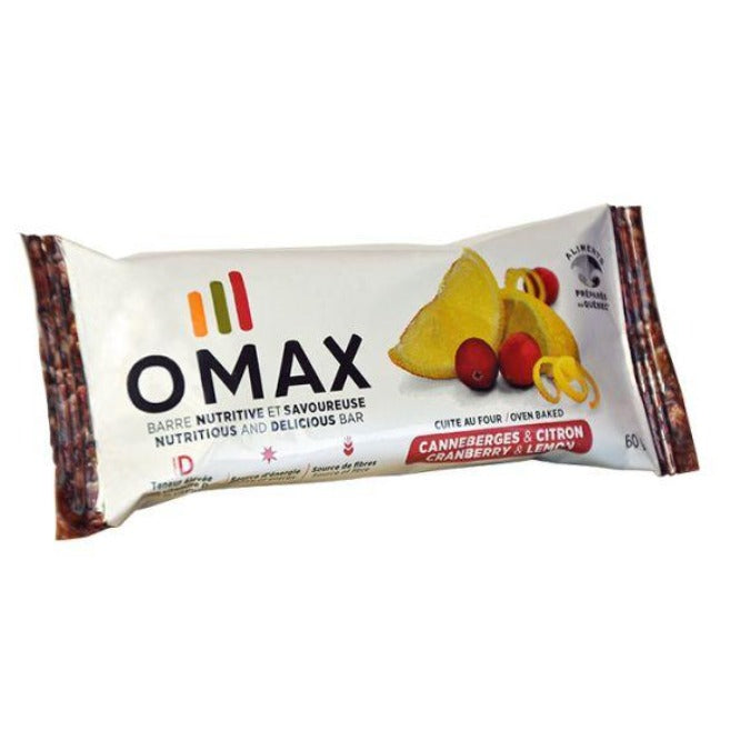 Barre OMAX canneberges & citron