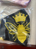 Embroidered Face Mask Royal Bee