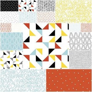 Creative Rockstar by Rad and Happy for Riley Blake Designs - 5 in squares - The Quilter's Bazaar