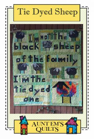 Tie Dyed Sheep quilt pattern by Emily Bailey